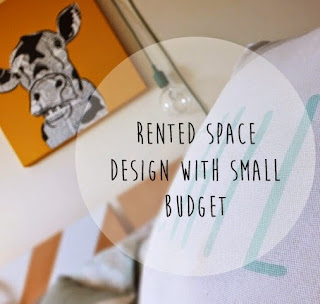 rented space makeover on budget