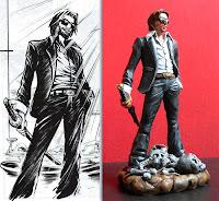 sculture su commissione john doe fumetto action figure modellino tratto da un disegno personalizzata orme magiche