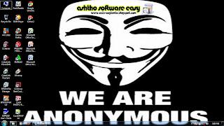 Download Theme Hacker Anonymous untuk Windows 7:Info