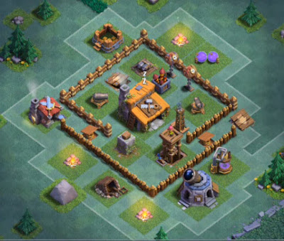 Base Aula Tukang Level 3 Clash Of Clans terbaru