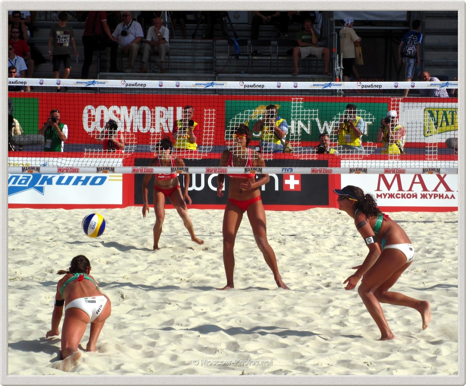 Serve Reception of Italian Beach Volley Team