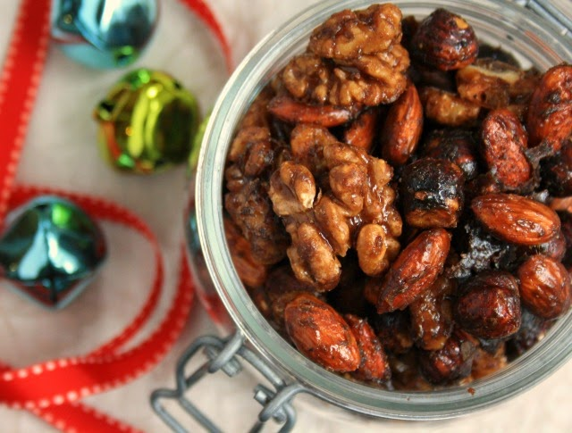 Chinese five spice candied nuts
