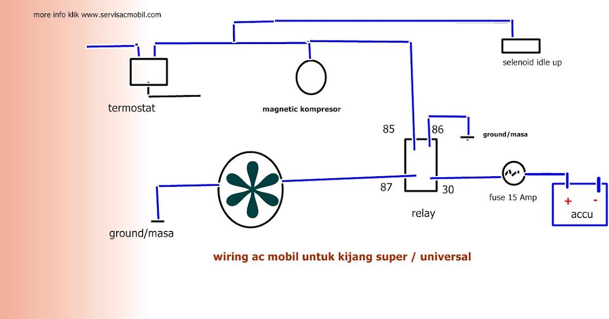 wiring kelistrikan ac mobil toyota kijang super  universal ~ spesialis ac mobil servis ac mobil