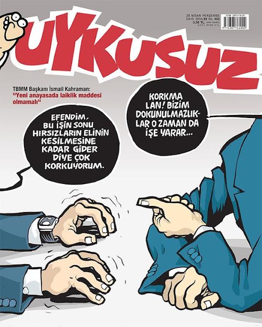Uykusuz Dergisi - 28 Nisan 2016 Kapak Karikatürü
