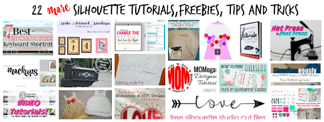 Silhouette tutorials, Silhouette freebies, Silhouette tips, Silhouette tricks