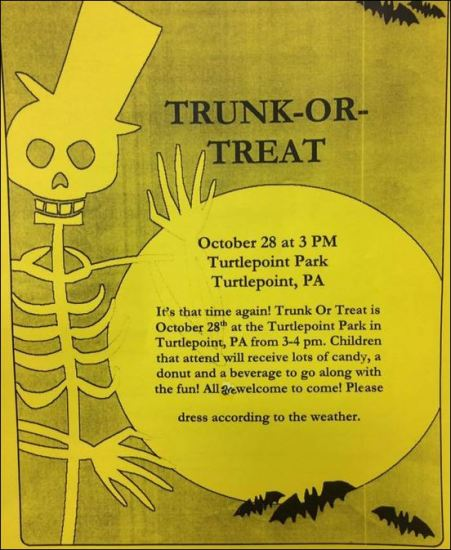 10-28 Trunk or Treat, Turtlepoint