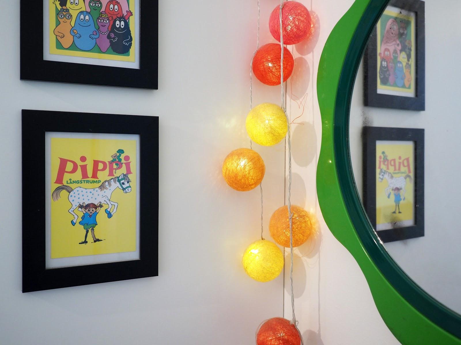 värikäs lastenhuone