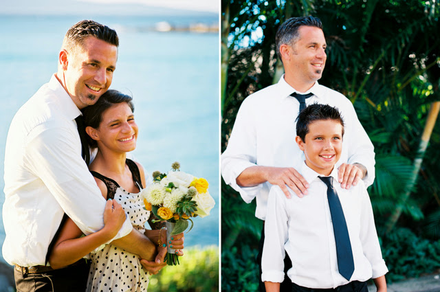 wedding portraits of dad and his kids