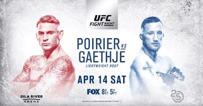 Ver UFC on Fox 29: Poirier vs Gaethje En vivo gratis 14 de Abril online