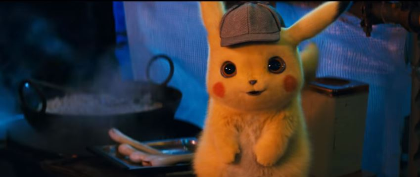 POKÉMON Detective Pikachu 2019 Movie featuring the voice of Ryan Reynolds as the titular Detective Pikachu