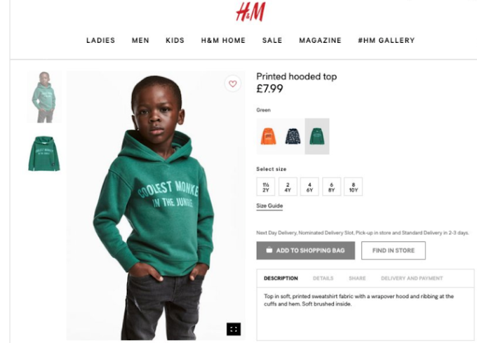"H&M apologises for Controversial ""Coolest Monkey In The Jungle"" Hoodie"