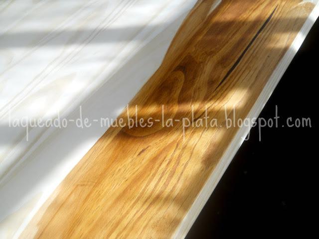 Teñido maderas roble oscuro