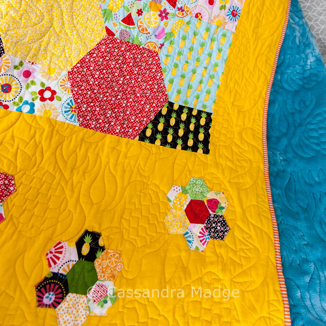 Brightly Coloured Pineapple Quilt by Cassandra Madge