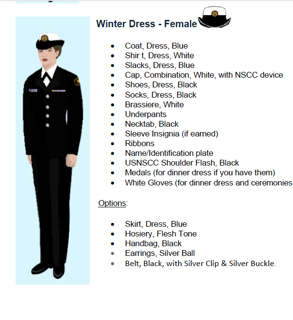 Sea Cadet Uniform Regulations 96