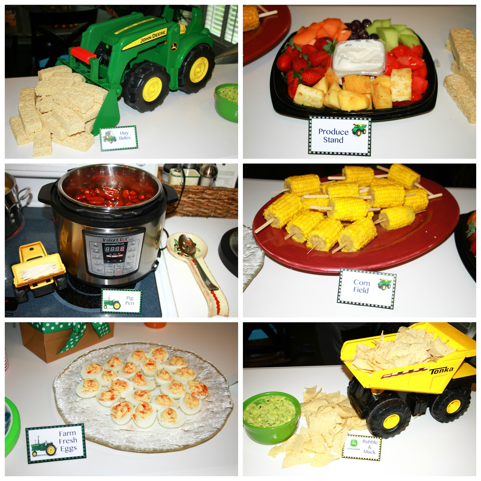 John Deere Birthday Party Food Labels Free
