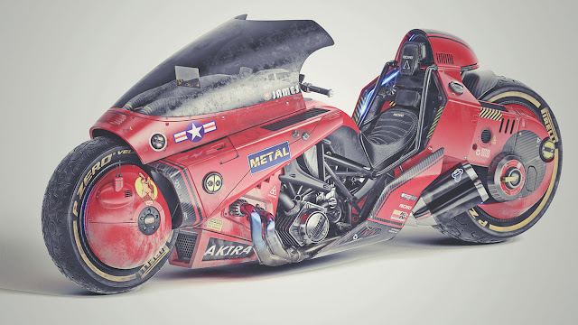 Akira - Kaneda's Power Bike by James Qiu on Behance