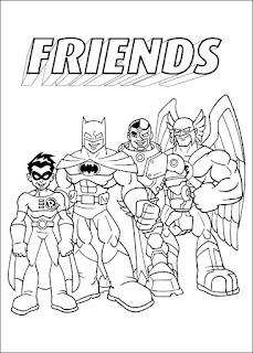 Malvorlagen Super Freunde zum Ausdrucken
