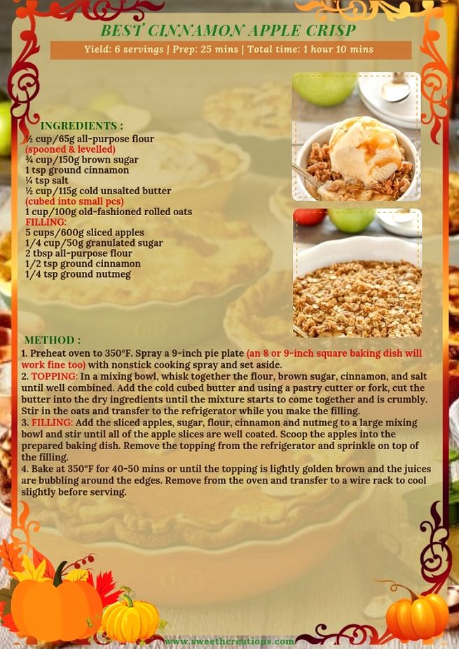 BEST CINNAMON APPLE CRISP RECIPE