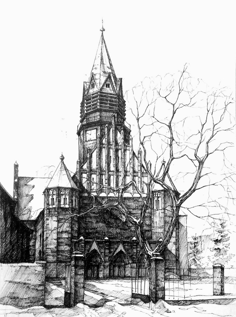 09-St-Anna-Church-Łukasz-Gać-DOMIN-Poznan-Architectural-Drawings-of-Historic-Buildings-www-designstack-co