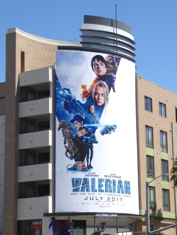 Valerian City of Thousand Planets movie billboard