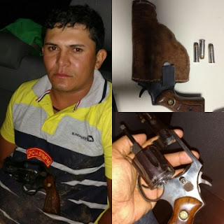 Polícia apreende revólver e cocaína em Carira