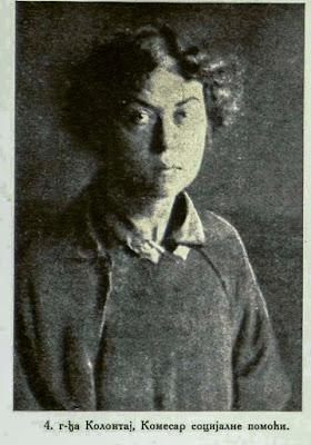 Madame Kolontaj, Commissionaire of the Socialistic Aid