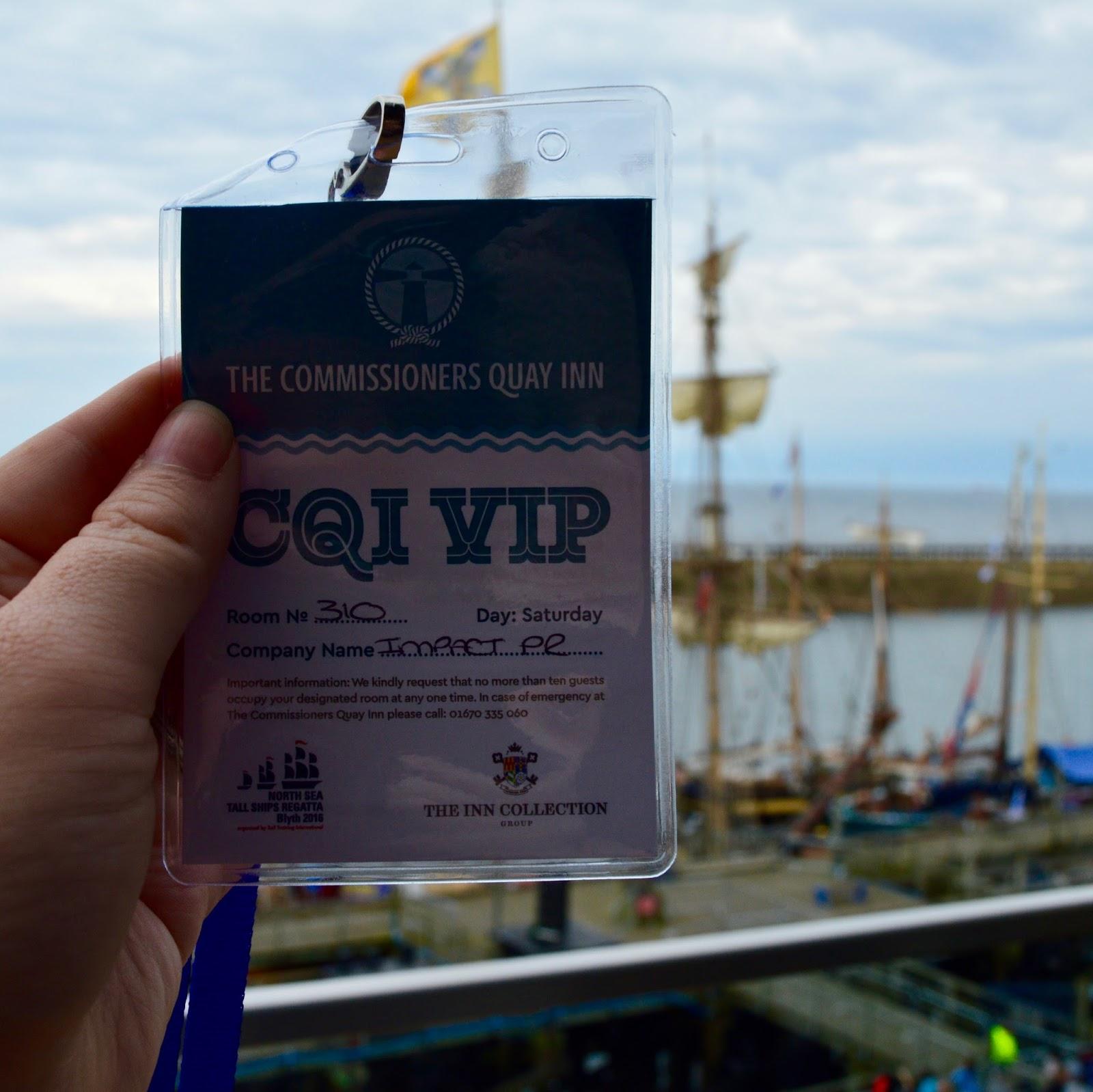 Tall Ships Regatta | Blyth 2016 | Commissioners Quay Inn - vip badge