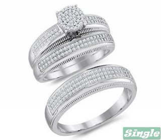 Exclusive White Gold Wedding Rings For Women And Men Single Design