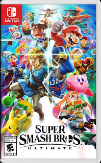Portada del estuche con el cartucho de Super Smash Bros Ultimate para Nintendo Switch (2018)
