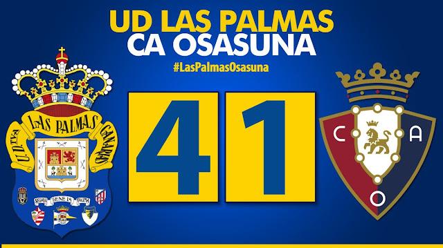 Marcador final UD Las Palmas 4-1 CA Osasuna