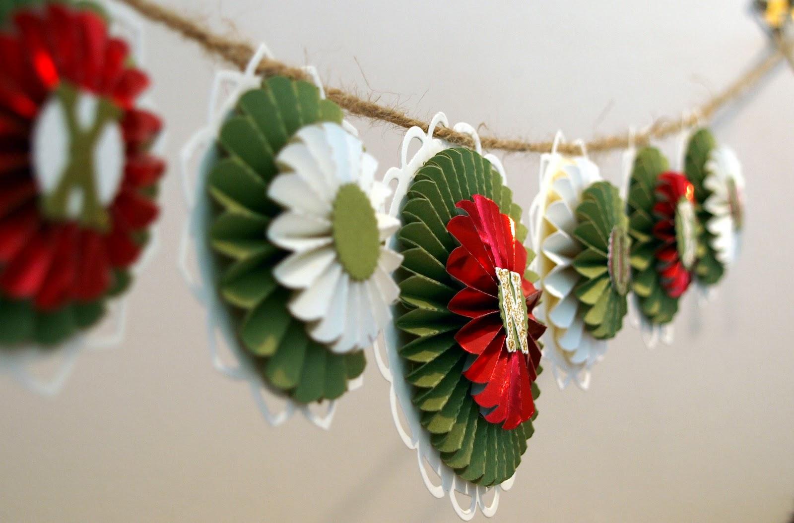 Crafting becky christmas garland joyeux noel - Addobbi natalizi 2016 finestre ...