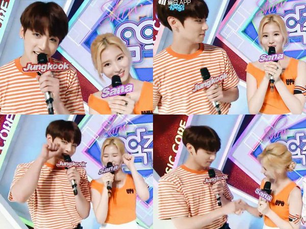Serasinya Jungkook BTS dan Sana TWICE Saat Jadi MC 'Music Core'