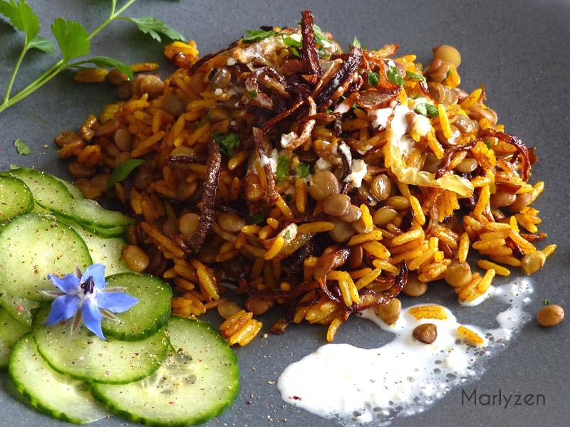Mujaddara : riz aux lentilles à la libanaise