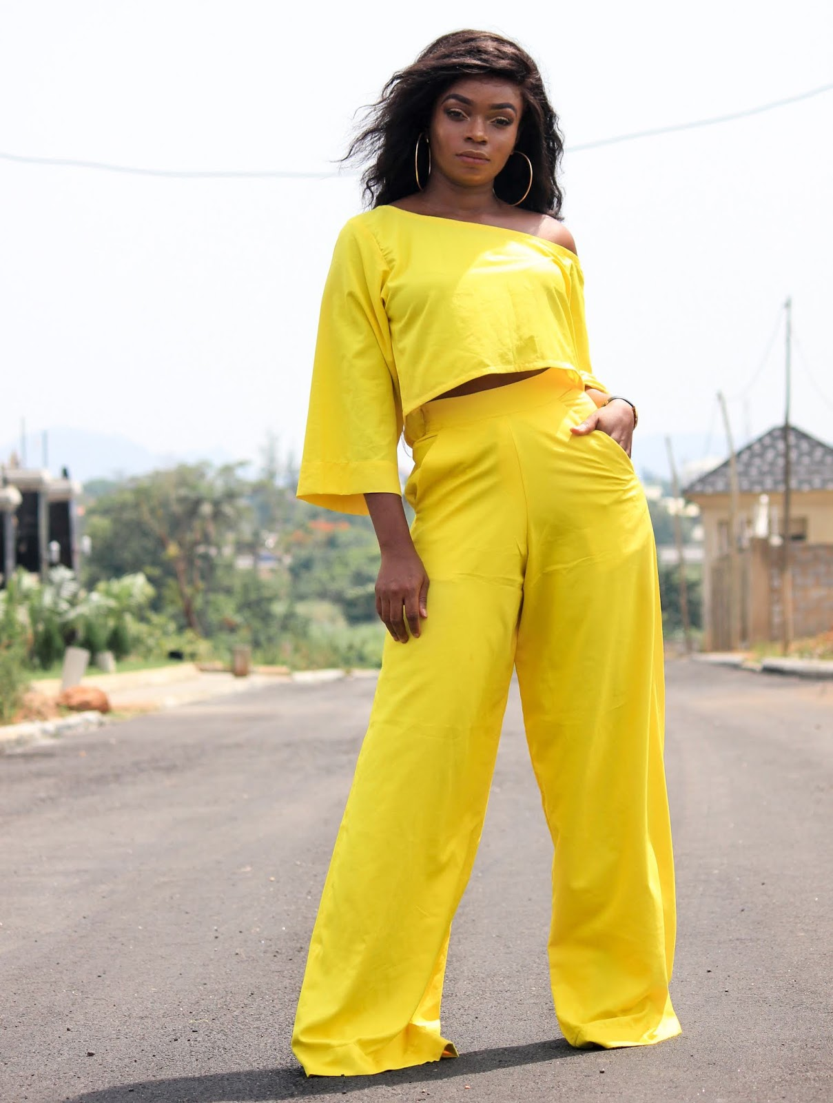 YELLOW YELLOW PANTS + TOP - Yellow Pants and Yellow Top by Porshher