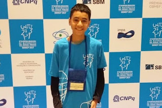 Aluno de escola estadual na Paraíba conquista medalha de ouro na Olimpíada Brasileira de Matemática