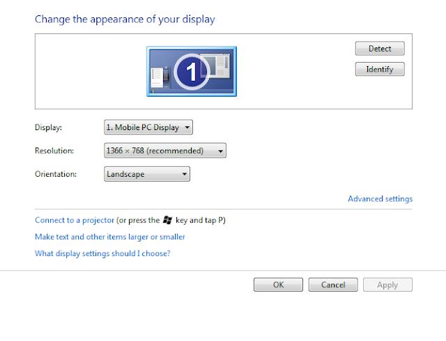 hướng dẫn cách thay đổi độ phân giải màn hình windows