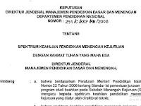 Spektrum Keahlian  SMK Kurikulum 2013 Terbaru