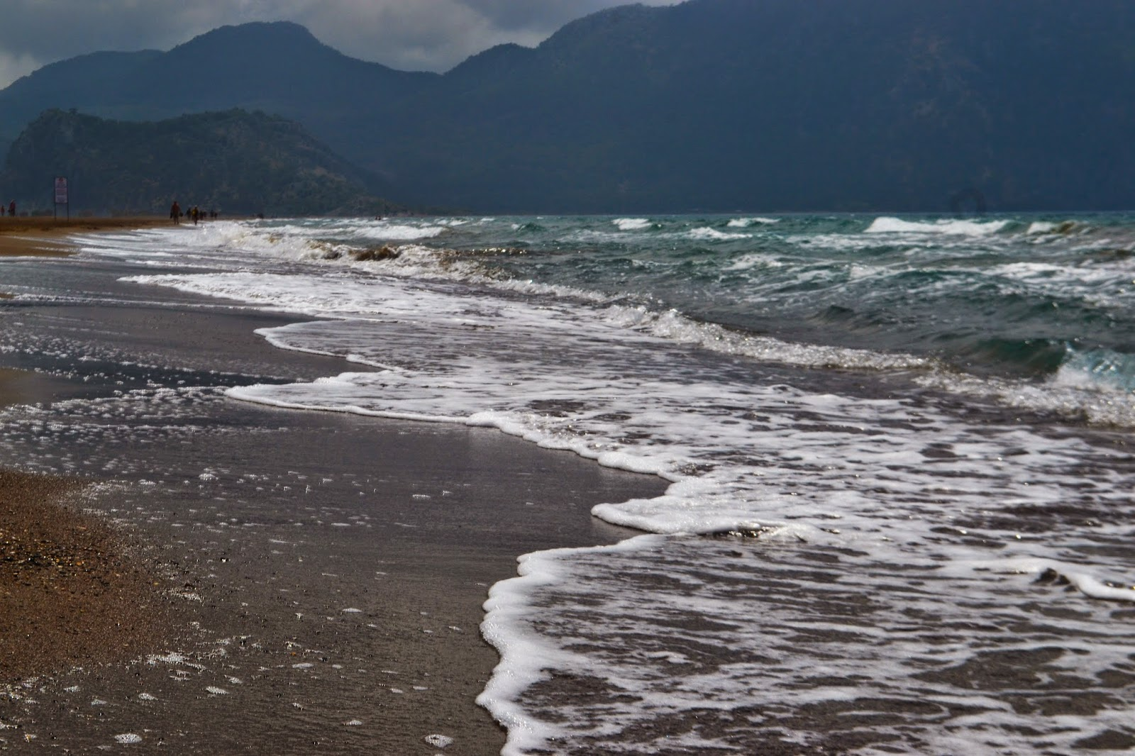 where the sea meets the shore on Iztuzu beach