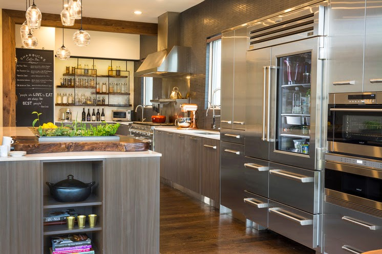 Hogares frescos cocina de la semana con una mezcla de for Cocinas de acero inoxidable para casa