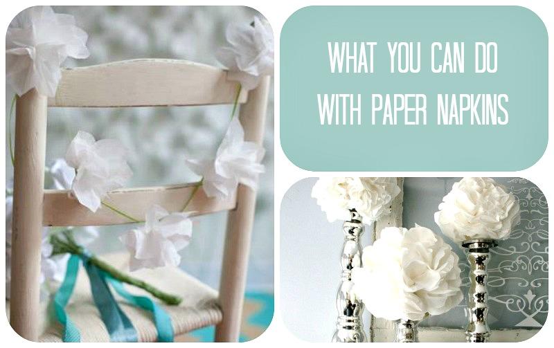 dekoracje papierowe chusteczki