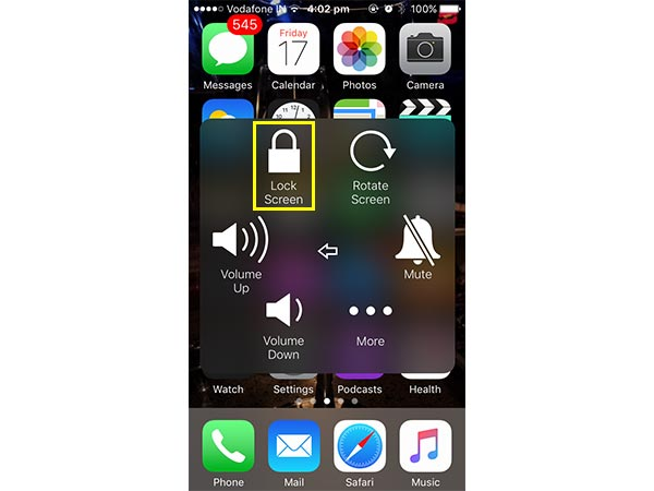 How to turn off iPhone without using power button?