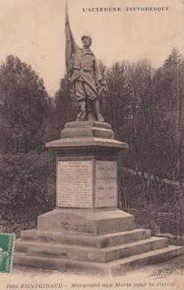 CPA monuments aux Morts du Puy-de-Dôme, Pontgibaud