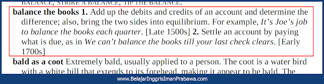 Arti Balance the Books