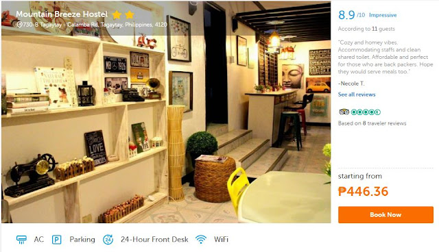 Tagaytay Hotels hostels Cheap accommodations rooms inns lodges and guesthouses