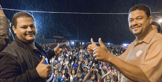 Eleito a Prefeito Haroldo Aguiar e Vice Elias Barbosa - (PTB) (Foto: Reprodução/Facebook)