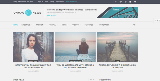 ionMAG Responsive Wordpress Themes