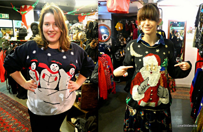 vintage christmas jumper shop launch
