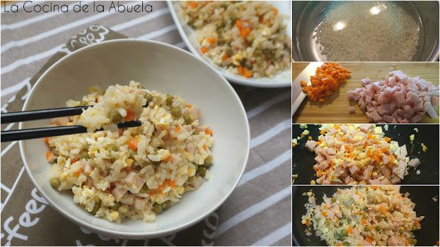Arroz Chino Tres Delicias receta pasos