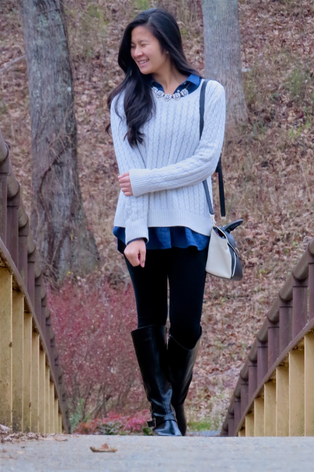 Winter_layers_Denim_and_Cable_Knit