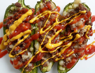 cheeseburger stuffed jalapenos
